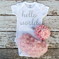 Newborn Hospital Outfits, Newborn Girl Outfits, Baby Girl Newborn, Baby Outfits, Baby Boys, Baby Momma, Toddler Outfits, Toddler Girls, Going Home Outfit