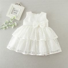 Baby Wedding Outfit Girl, Baby Girl White Dress, Dress For Girl Child, Baby Girl Birthday Dress, Baby Girl Party Dresses, Girls Lace Dress, Toddler Girl Dresses, Baby Dress, Girls Dresses