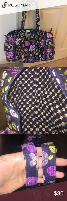Vera Bradley small duffel in Floral Nightingale Vera Bradley small duffel in Floral Nightingale with side pocket                                                                                   Used a handful of times - bag and straps in good condition Vera Bradley Bags Travel Bags