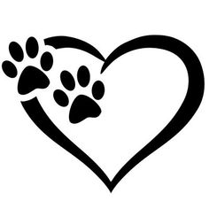 Items similar to Paw Love Heart Stickers, Animal Stickers, Car Stickers for … – foot tattoos for women Machine Silhouette Portrait, Small Foot Tattoos, Oracal Vinyl, Dog Memorial, Cool Stickers, Car Painting, Car Decals, Sticker Vinyl, Dog Tattoos