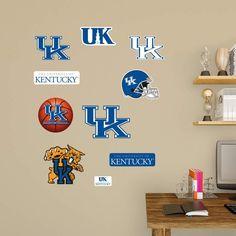Fathead NCAA Kentucky Wildcats Junior Logo Assortment Wall Decal - 15-15194