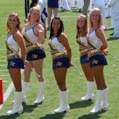 Georgia Tech majorettes - My friend Mandy is on the front row, far right side.