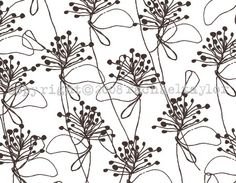 Rachael Taylor fabric designs - Loose Foliage Browns