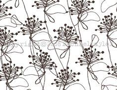 Rachael Taylor fabric designs - Loose Foliage Browns