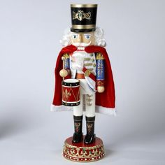 """$85.99-$116.99 From the Royal Nutcrackers Collection Item #J1089 A traditional favorite with remarkable attention to detail, all the way down to the Fleur-de-lis design on his drum Dimensions: 16""""H Material(s): painted wood/fabric For indoor decorative use only"""