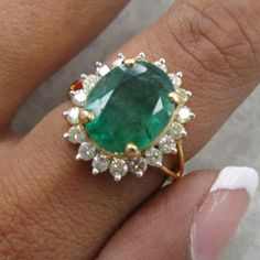 One of my favorite Emerald Diamond Ring I have ever made, and offer is also valid 15% off Discount :-)