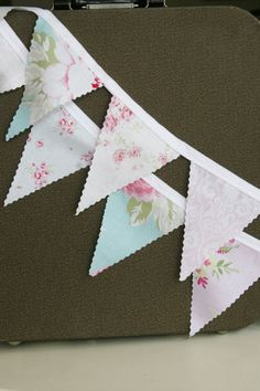 Shabby Chic Bunting Banner Nursery Decor Pink Blue Nursery Photo Prop