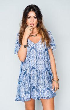 Kylie Mini Dress - Teacup Blue | Show Me Your MuMu