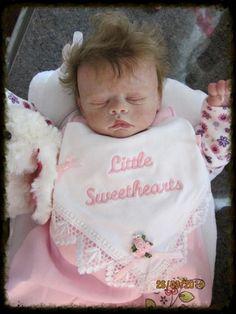 life like baby doll created by Teresa Bierton