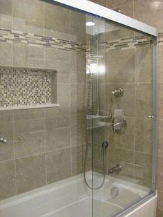ideas bathroom shower tub tile bath remodel for 2019 Small Bathroom With Shower, Brown Bathroom, Shower Tub, Master Bathroom, Paint Bathroom, Tile Showers, Bathroom Tubs, Small Bathrooms, Bathroom Showers