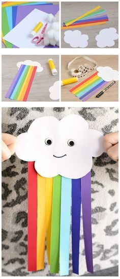 - You are in the right place about ideas Here we offer you the most beautiful pictures about the id - Rainbow Paper, Rainbow Crafts, Rainbow Art, Toddler Crafts, Toddler Activities, Crafts For Kids, Arts And Crafts, Fish Crafts, Craft Stick Crafts