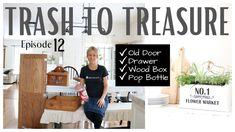Trash to Treasure Projects ~ Trash to Treasure Episode 12 ~ DIY Decor ~ ...