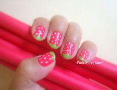 Strawberry nails. So cute(: