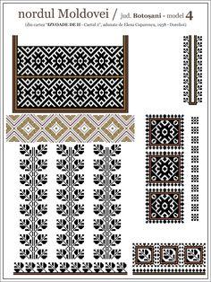 Semne Cusute: septembrie 2013 Blackwork Embroidery, Folk Embroidery, Cross Stitch Embroidery, Embroidery Patterns, Quilt Patterns, Knitting Patterns, Cross Stitch Designs, Cross Stitch Patterns, Aztec Decor