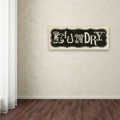 Room Signs I - Laundry by Pela Studio Textual Art on Wrapped Canvas