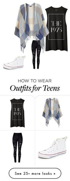 """Another 1975 look"" by missvictoria9 on Polyvore featuring Dorothy Perkins, Converse, women's clothing, women, female, woman, misses and juniors"