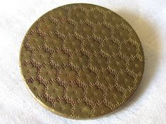 ANTIQUE Flower Wallpaper Metal BUTTON by abandc on Etsy