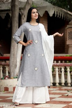 Kurta Sets Christeena Womens Reyon Kurti With Sharara Fabric: Rayon Sleeve Length: Three-Quarter Sleeves Pattern: Printed Combo of: Single Sizes: S (Bust Size: 36 in Size Length: 46 in)  XL (Bust Size: 42 in Size Length: 46 in)  L (Bust Size: 40 in Size Length: 46 in)  M (Bust Size: 38 in Size Length: 46 in)  XXL (Bust Size: 44 in Size Length: 46 in)  Country of Origin: India Sizes Available: S, M, L, XL, XXL   Catalog Rating: ★4 (426)  Catalog Name: Women's Printed Rayon Kurta Set with Sharara CatalogID_1019817 C74-SC1003 Code: 848-6411195-
