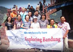 Our Guests from Singapore Visiting Tangkuban Perahu Volcano