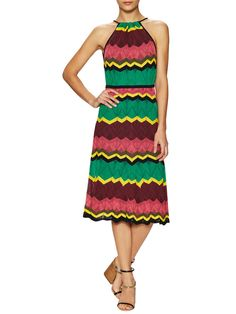 Knit Cotton Halter Midi Dress from M Missoni on Gilt - iconic Missoni. Nice for Spring.