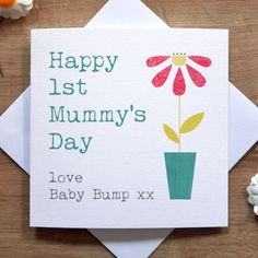 personalised handmade 1st mothers day card mum mummy step mum godmother - Mother039s Day Greeting Card Messages