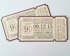 "4""x8"" Hogwarts Express Train Ticket Invitation - Pack of 10"