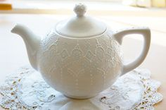 Lovely teapot, vintage and found on etsy.com  http://www.etsy.com/listing/70900016/victorian-blue-teapot-handpainted-with