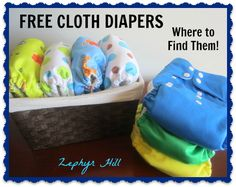 How to get your hands on some FREE cloth diapers....no strings attached!
