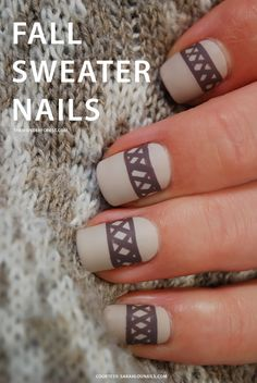 Fall Sweater Nail Tutorial | Wonder Forest