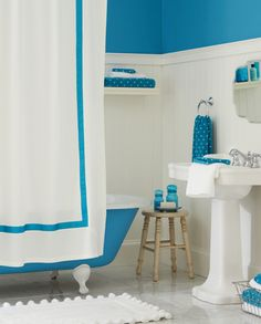Teen bathrooms available to match the bedroom bedding & patterns