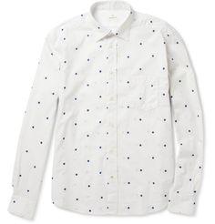 HartfordPolka-Dot Cotton Shirt|MR PORTER