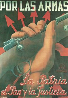 Cartel del bando franquista, obra del dibujante Cabanas