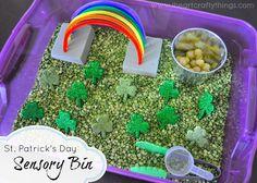 St. Patrick's Day Sensory Bin from I Heart Crafty Things