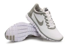 huge discount 66276 aefbb Nike Free 3.0 V2 Womens New White Platinum Silver Grey Cheap Running Shoes,  Cheap Shoes