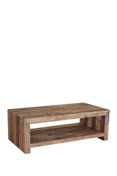 Small Double Sided Coffee Table With Magazine Shelf