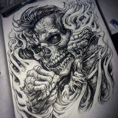 Новости Tatoo Designs, Tattoo Design Drawings, Skull Tattoo Design, Tattoo Sketches, Skeleton Tattoos, Skull Tattoos, Body Art Tattoos, Sleeve Tattoos, Shark Tattoos