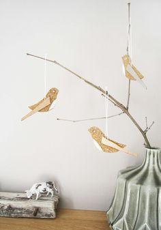 Deko-Objekte - Vogel Kork Kupfer - ein Designerstück von GuteGaben bei DaWanda