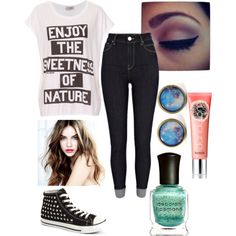 I {Mary} made this outfit on my Polyvore account... First day of school outfit...
