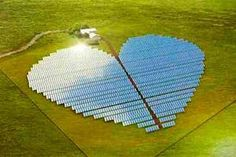 It's hard not to fall in love with this heart-shaped solar farm, being built on the Pacific island of New Caledonia