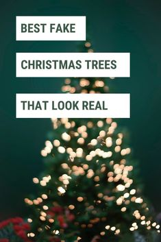 If you're looking for the best artificial Christmas tree that looks realistic, check out these affordable artificial Christmas trees! #christmastrees