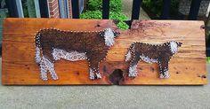 Cattle String Art
