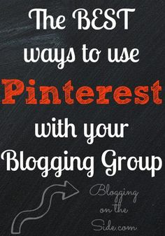 Great tips for using pinterest as a group