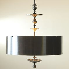 Interior HomeScapes offers the Turned Pendant Chandelier - Antique Bronze Finish - Lg by Global Views. Visit our online store to order your Global Views products today. Bronze Chandelier, Bronze Pendant, Drum Pendant, Pendant Chandelier, Chandelier Lighting, Chandeliers, Modern Pendant Light, Bronze Finish, Modern Contemporary