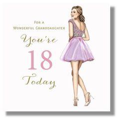 Happy 18th Birthday Card Granddaughter