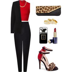 Classy. by cheerstostyle on Polyvore featuring moda, Alice + Olivia, Oasis, Sole Society, Laura De La Vega and Estée Lauder