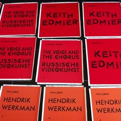 Getting ready for the upcoming exhibitions: Keith Edmier and Russian Video Art. #dehallenhaarlem #keithedmier #russian #video #art #graphicdesign #cobbenhagenhendriksen