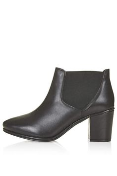 $110, Black Leather Chelsea Boots 100% Leather Specialist Clean Only by Topshop. Sold by Topshop. Click for more info: http://lookastic.com/women/shop_items/134566/redirect