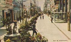 SERGIPE EM FOTOS: Antiga foto do Calçadão da Rua João Pessoa, em Aracaju