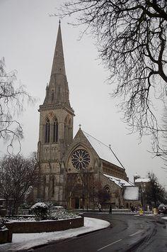 St Matthias Church Richmond Hill Richmond Surrey, Richmond Upon Thames, Richmond Hill, Beautiful Streets, United Kingdom, Saints, London, Explore, Building
