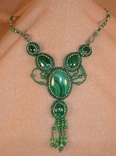 Malachite necklace  #malachite #green